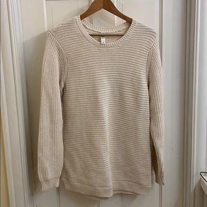 Lole cream colored knit sweater. M.